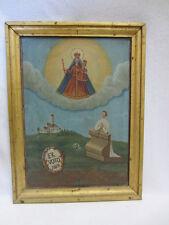 VOTIV-TAFEL - KLOSTER ANDECHS - MARIA & JESUS-KIND - MADONNA - 1862 - HOLZ