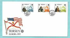Jersey CI Channel Islands First Day Cover FDC 1992 Europa Discovery of America