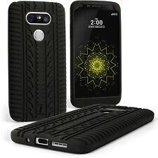 Nero Silicone Gomma Custodia Pneumatico per LG G5 H850 Case Cover + Pellicola