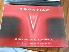 99 Pontiac Montana Owners manual 1999