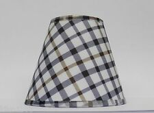 Country Plaid Fabric Chandelier Lamp Shade Multi-Color, Traditional, any room