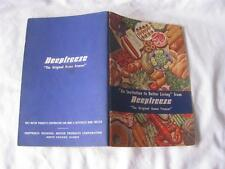 Vintage 1948 Deepfreeze Home Freezer Motor Products Chicago How To Booklet EXC!