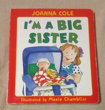 I'M A BIG SISTER Giant Board Book JOANNA COLE Maxie Chambliss VGC