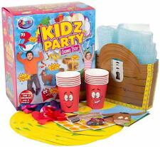 KIDZ PARTY 8 GAMES FUN BOX KIDS GIFT BIRTHDAY BALLOONS ACTIVITIES BUBBLES NEW