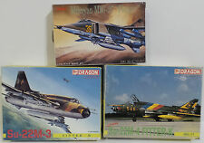 AVIATION : MIG 27, SU-22M-3, SU-22M-4 SMALL MODEL KITS MADE BY DRAGON / TSUKUDA