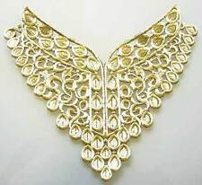 Iron On Trim for Neckline from India. Easy DIY.  Light Gold
