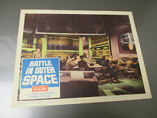 1960 BATTLE IN OUTER SPACE Lobby Card 14x11 FN #5 60/122 Uchû daisensô