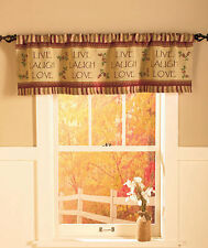 Live Laugh Love Valance Window Decor Rustic Primitive Country Cottage Home Gift