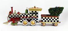 """MacKenzie CHILDS AMAZING COURTLY CHECK TRAIN HANDCRAFTED 18"""" LONG BRAND NEW"""