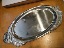 Charming WMF Cromargan stainless serving tray, shape of a pig.