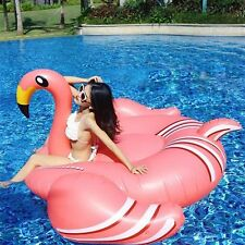 Giant Pink Flamingo Floating Inflatable Ride On Swimming Fun Pool Toy 75 inch L8