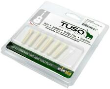 Graph Tech TUSQ Traditional Acoustic Guitar Bridge Pins WHITE w/2mm black dot