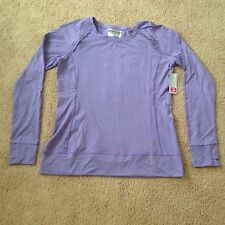 Nwt Layer 8 Performance Quick Dry Lavender Long Sleeve Women's Shirt Top Size L