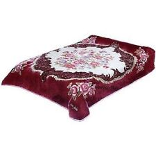 Original Solaron Korean Blanket throw Thick Mink Plush queen size Roses Acrylic