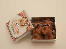 Dolls house food: Tin of chocolate chip cookies   -By Fran