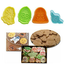 4Pcs Character Plunger Cutter Decor Fondant Cake Cookie Mold Tool For Star Wars