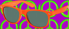 A176✪  Sonnenbrille 80er Jahre New Kids Wave Shoez NDW wayfarer neonorange