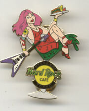 Hard Rock Cafe Uyeno Eki Tokyo Pink Hair Waitress in Martini Glass Pin