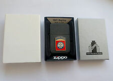 New Replica ZIPPO Black Crackle Super Rare Airborne Lighter Gift WW2 WWⅡ