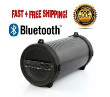 Wireless Bluetooth Portable Speaker Bass Stereo Black for PC Tablet Rechargeable