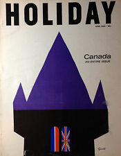 Vintage HOLIDAY Magazine April 1964 Canada Entire Issue