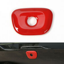 For 2014 15 2016 Cherokee Tail Gate Rear Door Camera Hole Cover Molding Trim Red