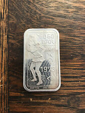 1973 Go Go Dancer 1 oz Silver Art Bar Ceeco Ingot .999