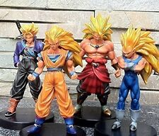 "Dragon Ball Z Super Saiyan 4x 5"" Action Figures Set Goku Broly Vegeta Trunks"