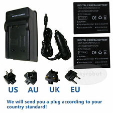 2pk Battery+charger for Panasonic CGA-S005E Lumix DMC-FX100EF DMC-FX12 DMC-FX50