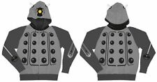 Doctor Who Grey Dalek Image Zippered Hoodie Licensed Size XXL (2X) NEW UNWORN