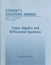Linear Algebra and Differential Equations Gary Peterson Peter Kohn Solutions Man