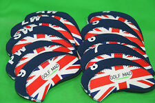 10 Golf Mad Neoprene Golf Iron Head Covers Union Jack Flag Iron Headcovers 2016