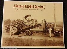 1916 Ernest Holmes Wrecker Tow Truck 1st Flatbed rollback ad carrier Chattanooga