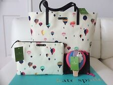 Kate Spade Hot Air Balloon Get Carried Away Bon Shopper Tote + Gia + Coin Purse