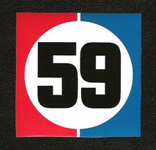 Brumos 59 Sticker, Peter Gregg, Hurley Haywood, Daytona Sports Car Racing Decal