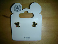 Disney Mickey Officially Licensed  Mickey Mouse Stud Earrings Gold Plated