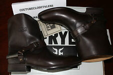 FRYE LINDSAY SPUR SHORT DARK BROWN SMOOTH FULL GRAIN LEATHER #8.5us $340