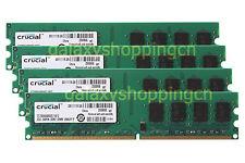 Crucial 8GB 4X 2GB PC2-6400 DDR2-800MHz 240PIN DIMM Desktop RAM Memory PC6400