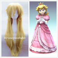 Super Mario Brothers Princess Mary Peach Princess Peach blonde cosplay Wig