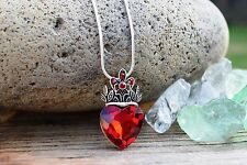 Disney Descendants Evies Necklace Costume Red Heart Crown Evie Costume Gift 18