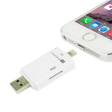 i-Flash Drive HD USB Micro SD Memory Card Reader Device For iPhone 5S 6 7 iPad