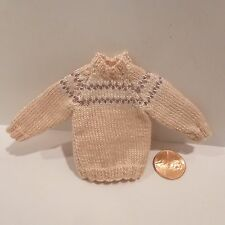 MINIATURE SWEATER PINK WITH DESIGN    COULD BE WORN