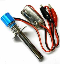 T10040 RC Nitro Engine Glow Plug Starter Igniter 6v Crocodile Clips Blue FAULTY