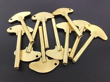 Set of 10 Solid Brass Schatz Anniversary 400 Day Trademark Clock Key #3  3.0 mm