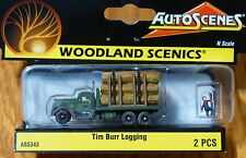 "Woodland Scenics N #5343 Tim Burr Logging (""AutoScenes"") 1:160 Scale"
