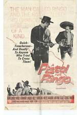 A PISTOL FOR RINGO Movie POSTER 27x40 Montgomery Wood Fernando Sancho Nieves
