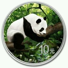2016 ~ 30~GRAM ~ SILVER ~ 10Y ~ CHINA PANDA IN NATURE  ~ COLORIZED COIN ~ $68.88