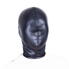 Faux Leather Full Head Zip Bondage Fetish Hood 'H01'