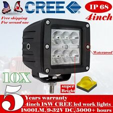 10X 3 inch LED Work Light Offroad Jeep SUV PODs Cube Truck SUV Driving Fog 4X4 5