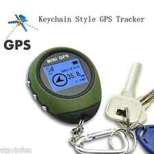 Mini Handheld Keychain GPS Tracker USB Rechargeable 16 POI For Outdoor Travel